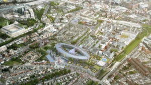 Aerial view of new children's hospital
