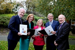 St. James's Hospital CEO, Lorcan Birthistle, Children's Hospital Group CEO, Eilish Hardiman, Ardmheara Ni Dhalaigh, Tusla CEO, Gordon Jeyes, NPHDB Project Director, John Pollock @ EY Launch 'Harnessing the Potential in Dublin8'
